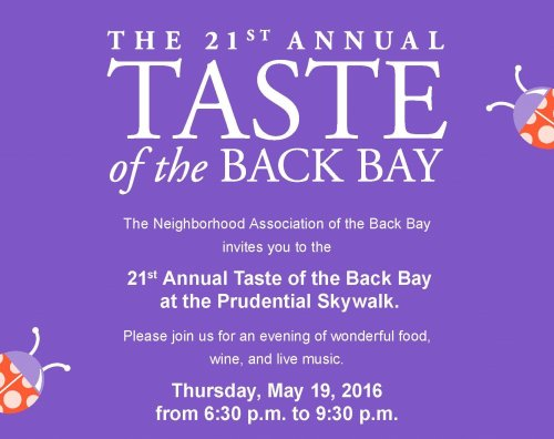 Taste of the Back Bay